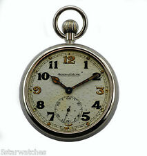 Antique 1930's Jaeger Le Coultre Royal NAVY Military GS/TP  Pocket Watch