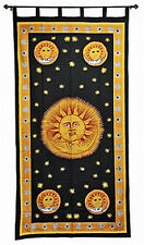Sunny Celestial Curtain Wall Hanging 100% Cotton Black Yellow #CT28ML