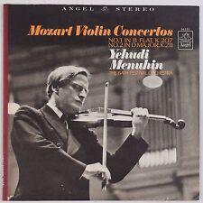 MOZART: Violin Concertos 1,2 MENUHIN Angel Stereo Vinyl LP NM- Wax