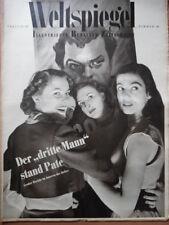 WELTSPIEGEL 44 - 1950 Umbrien Freiheitsglocke-Berlin-Mode Pelze + Radio-Programm