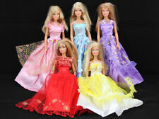 Lot 6 Pairs Shoes & Lot 5 Barbie Dresses Clothes gown for dolls Gift girs B05
