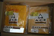 QTY of 11 NEW ACE APPAREL PVC Pants  ACE REFLECTIVE TAPE YELLOW CWWPOO75 SIZE L