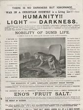 1899 ADVERT ENOS FRUIT SALT DOG AT GRAVESIDE