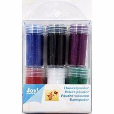 6 Dosen Samtpuder von Joycrafts Glitzerpuder Velvet Powder NEU Puder 8900/0102