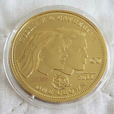 2011 WILLIAM & CATHERINE TDC NUMBERED GOLD LAYERED PROOF CROWN