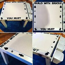 Lego Customised Building Table - Ghostbusters, Disney, Sports, Superheroes, DC