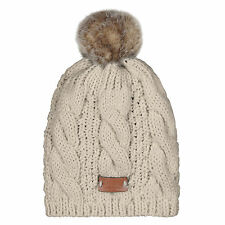 Aran Traditions Womans Men Winter Warm Knitted Style Oatmeal Beige Beanie Hat