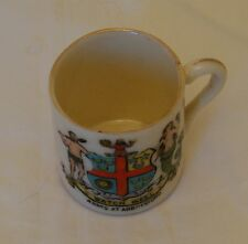 Rex Crested China Mug Watch Weel Arms Of Abbotsford - 4cm tall