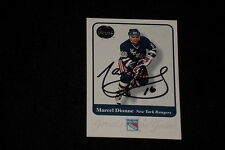 HOF MARCEL DIONNE 2001 FLEER GREATS OF THE GAME SIGNED AUTOGRAPHED CARD #16