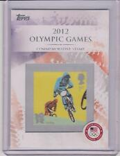 RARE 2012 TOPPS OLYMPIC CYCLING / BMX STAMP CARD #CS15 ~ L@@K!!!