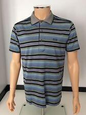 Hugo Boss Men's Polo T Shirt, Medium, M, Blue & Green Immaculate
