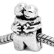Hugging Friends Couple People Hug Love Family Bead fits European Charm Bracelets