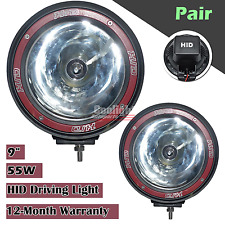 2pcs 55W 9INCH HID XENON Driving Light Spotlight WORK OFFROAD 4WD Truck SUV BOAT