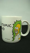 The Simpsons Atomic Dad Coffee Mug 1990 Nuclear Radiation White Cup Cartoon