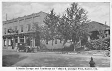 Butler Indiana Lincoln Garage Residence Store Front Antique Postcard K15828