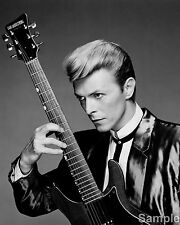 David Bowie Rock Star Black and White Photo Music Poster Art Print A4