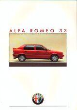 ALFA ROMEO 33 GAMMA Inc 4x4 & QUADRIFOGLIO 1986 ITALIANO delle vendite sul mercato opuscolo