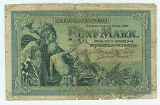 Banknote Deutsches Reich 5 Mark 1904 Ro.22a