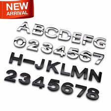 H1.6cm Figure Letter Ho Alphabet 3D Metal Chrome Auto Car Emblem Sticker DIY New