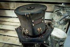 Unique Victorian Handmade Steampunk HAT || Leather Lab || Metal || Gothic || #4