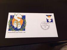 1986 International Year Of Peace Unaddressed FDC AP Brisbane