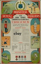 WW1 RECRUITING POSTER BRITISH ARMY ROYAL MUNSTER FUSILIERS IRISH NEW A4 PRINT