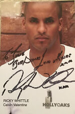 6x4 Hand Signed Photo Hollyoaks PC Calvin Valentine - Ricky Whittle
