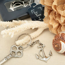 75 Anchor Key Chain Beach Bridal Wedding Favor Shower Party Event Gift Lot