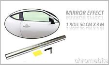 3M x 50cm Car Auto Van Chrome Silver Window Tint Film OneWay Mirror Tinting Foil