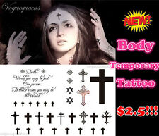 Brand New Crosses Pattern Temporary Tattoo