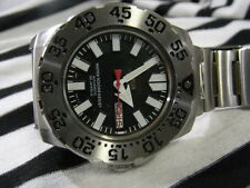 SEIKO5 MONSTER SUPER BLACK  DIAL DIVER AUTOMATIC MINI MONSTER MEN S WATCH 7S26