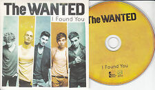 THE WANTED I Found You 2012 UK 2-trk promo CD