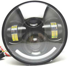 """5.75"""" 5-3/4"""" CREE LED Headlight with Halo Ring For Harley Davidson Motorcycle"""