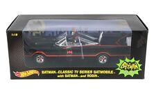 1:18 BATMOBILE 1966 TV SERIES w BATMAN ROBIN HOT WHEELS DIE-CAST CAR
