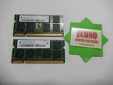 Qimonda 2GB (2x1GB) DDR2 2Rx8 PC2-5300S Laptop RAM Memory
