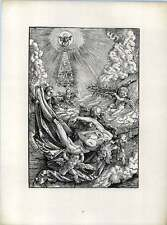 Hans Baldung Grun The Dead Christ Supported By Four Angels Old Woodcut
