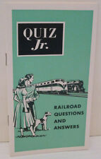 RAILROAD QUIZ JR QUESTIONS AND ANSWERS MINI BOOKLET 1955 GREEN COVER
