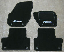 "Car Mats in Black to fit Volvo C30 (2006-2012) + ""R Design"" Logos + Fixings"