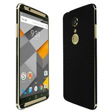 Skinomi Black Carbon Fiber Skin+Clear Screen Protector for ZTE Axon 7