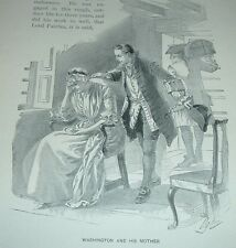 1899 Antique Print GEORGE WASHINGTON AND HIS MOTHER