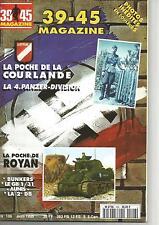 39-45 N° 106 POCHE DE ROYAN  / 2e DB / POCHE DE COURLANDE / 4e PANZER DIVISION
