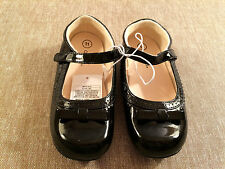 toddler girls CHEOKEE dress shoes NEW size 11 NWT black patent flats
