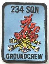RAF No.234 Squadrone Groundcrew Royal Air Force Ricamato Rettangolare Toppa