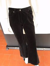 "Laura Ashley Size 10 Black Corduroy Style Bootleg Length 32""/81 cm Trousers £45"