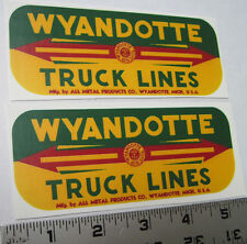 Wyandotte truck line water slide decal set
