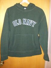 Old Navy Green Long Sleeve Fleece Hoodie Hooded Pullover Sweatshirt Mens Large L