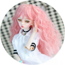 QQ4-19 :1/4 MSD BJD DOLL Heat resistance fiber wig pink Color Super Dollfie Hair