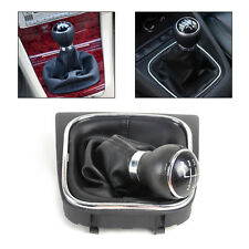 New Black 5 Speed Gear Shift Knob Gaitor Boot For For VW Golf 6 MK5 05-10 MK6
