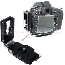 L- Bracket Vertical Quick Release Plate for Nikon D810 D800 Camera Battery Grip
