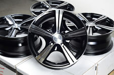 "14"" Black Wheels Rims 4x100 Integra Escort Accord Civic Insight Fit Kia Rio MX5"